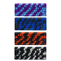 14color Computer Keyboard Push Bubbles Fidget Toys Cell Phone Straps Stress Relief Finger Dimple Games Pad Colorful Math Numbers Pads YX006 DHL freeship