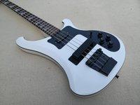 Custom 5 Calças Baixo Guitarra, Branco 4003 Baixo, Encadernação Preta, Fingerboard de Rosewood, Maple Set no corpo de mogno
