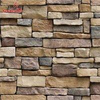 Waterproof Stone Brick Wall Sticker Self adhesive paper Home Decor Art Decal Living Room Bedroom Bathroom Kitchen 210910
