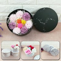 Flower Box Packing Floral Round Hat Boxes Paper Storage Hug Bucket With Lid Wedding Candy Gifts Florist Gift Wrap