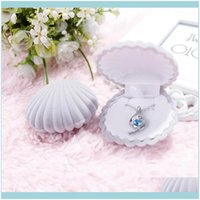 & Jewelry5 Color Veet Shell Shape Jewelry Boxes For Pendant Necklaces Women Luxury Wedding Engagement Gift Case Packaging Display 92 M2 Drop