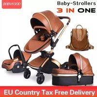 Sistema di lusso del designer Baby 3 in 1 Sistema di viaggio Alta Scape di terra con Basset Piedg Egg Cartagger per Borns Baby 906
