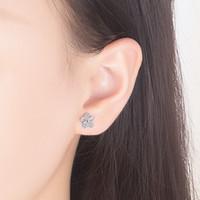 Orecchini in argento sterling 925 orecchini di alta qualità donna gioielli moda retrò semplice plum foglia di foglia di cristallo orecchini zirconi 794 Z2