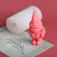 Craft Tools Christmas Silicone Candle Mold 3D Santa Claus Shaped Soap Mould Handmade Decorating 2022 Year Decor