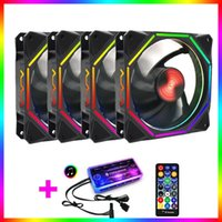 Fans & Coolings Coolmoon LN RGB Fan AURA SYNC With IR Remote Quiet 120mm Computer Case CPU Cooler And Radiator