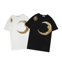 Mens Designer T Shirts White Black Men Women Letter Print Stylist Tees Summer Fashion Brand Shirt Size M-3XL