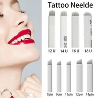 Aghi microblading bianchi per tatuaggio laminas tebori Penna manuale 7 9 11 12 14 Flex Blades Shape a forma di permanente Trucco permanente Blade1