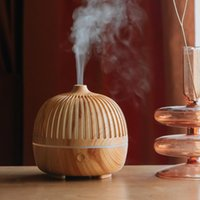 Round Aroma Diffuser DC5V USB Humidifier Classic Wood Grain ...