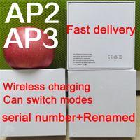 Hava Gen 3 AP3 Kulaklık TWS Nesil3 H1 Çip Kablosuz Şarj Bluetooth Kulaklıklar PODS Pro AP2 2ND iPhone Xiaomi Huawei için GPS Yeni Adlandır