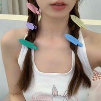 Sweet or Not Frosted Macarone Color Hairpin Tracels Makeup Net Red Girl Side Clip Japan and South Korea Advanced Hair