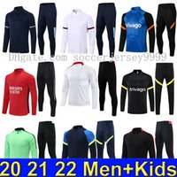 20 21 22 Manchester Herren Kinder Fußballtraining Anzug Rashford Surveetement de Foot Trainingsanzug Joggen 2021 Mann Martial Pogba B.Fernandes United Fussball Jacke Stadt