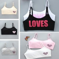 Girls bra, sports vest Camisole, kids underwear,child pure cotton with insert, middle and large children Bras 9218
