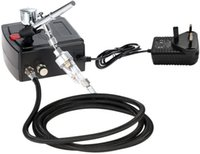 Professional Spray Guns Dual-Action Airbrush Gun Mini Compressor Kit For Nail Art Makeup Tattoo Model Cake Car Paint EU UK US