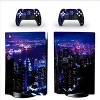 Galaxy Style Decorations Sticker for PS5 Console and 2 Contr...