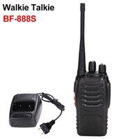 2 قطع Baofeng Walkie Talkie BF 888S جهاز الإرسال والاستقبال اللاسلكي المحمولة UHF 400-470MHz 16channel اتجاهين راديو BF-888S مع مصباح يدوي 1-3KM BF888S