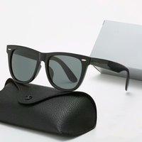 Großhandel Klassische Marke Runde Sonnenbrille Luxus Design UV400 Eyewear Bands Metall Goldrahmen Designer Sonnenbrille Männer Frauen Spiegel 3002 Sonnenbrille Polaroid Glas Linse