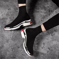 2021 ÜST Tasarımcı Erkek Kadın Hız Eğitmen Çorap Çizmeler Çorap Erkek Eğitmenler Boot Moda Rahat Balck Ayakkabı Ayakkabı Kırmızı Sneakers