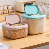 Storage Bottles & Jars 6 10KG Rice Container Bucket Sealed Food Grain Box Moisture-proof Pet Dog Store Kitchen Organizer