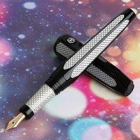 Fountain Pens Hero H712 Space 10k Gold Exquisite Pen con Rolderball Recarga FM de dos cabezas FM NIB Recogida para Office Home Gift Set