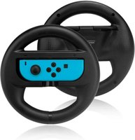 Game Controllers & Joysticks TechKen Joycon Steering Wheel (Set Of 2) Compatible With Switch Joycons (2black)