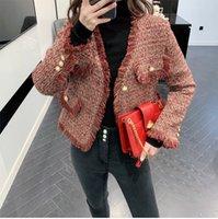 120 2021 Primavera Brand Same Style Cappotto Cappotto Abiti Regular Empire Pulsante V Neck Moda Casual Cappotto di alta qualità Yingyu