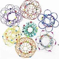 Cambios múltiples Mandala Flower Cesta Magic Flow Anillo Fidget Juguetes Hecho A Mano Color Hierro Bucles Alambre Estrés Alambre Alivio Finger DHC7478