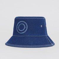 Benne da donna cappello blu Blue Denim Letter Stampa Secchio Cappelli Estate Cappelli Estate Cappelli per le donne uomini