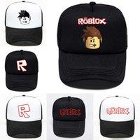 Game Roblox Cartoon Kids Sun Baseball Cap 6 stilar Hip hop hattar Pojke flicka kepsar för barn födelsedagspresent souvenir jy514
