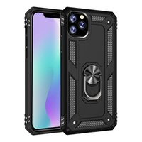 For iPhone 11 Pro Max 6.5 housings heavy duty case flexible magnetic with rotate ring stand car hard PC & TPU combo armor phone cover