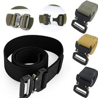 Belts Fashion Men's Tactical Adjustable Heavy Duty Training Waist Belt Military With Metal Buckle