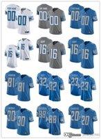 맞춤 20 Barry Sanders 16 Jared Goff 32 D 'Andre Swift 30 Jeff Okudah 33 Kerryon Johnson Football Jerseys