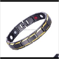 Cuff Black Male Bangles Energy Balance Copper Chain Link Germanium Magnetic Bracelets For Men Health Care Medical Jewelry Jhy3P 16Pgk