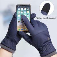 Ski Gloves Winter -20 Degrees Cold-proof Men Windproof Waterproof Keep Warm Touchscreen Anti Slip Soft Fluff