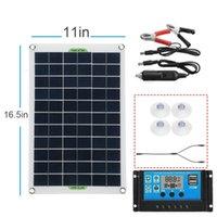 100 W Protable-Güneş Paneli Kiti Çift DC USB Şarj Cihazı Tek Kristal Yarı Esnek Powerw / NOT / 10A / 30A / 60A / 100A KONTROLLER - KONTROLLER OLMADAN