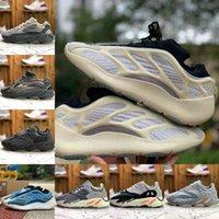 2021 Nova Qualidade de Alta Qualidade Kanyes Inertia Mens Correndo Tênis Oeste V2 V3 380 Onda Black Runner Estático MNVN Sólido Ímã Cinza óssea Tephra Geode Womens Sneakers F31