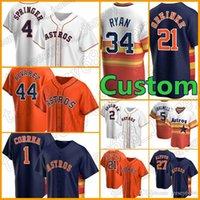 2 Alex Bregman Jersey Astros Custom 27 Jose Altuve Baseball 7 Craig Biggio 5 Jeff Bagwell 43 Lance McCullers Mens Zack Greinke Carlos Correa