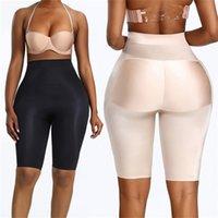 High waist seamless body shaper abdomen butt lifting buttocks control panties invisible pad padded hip enhancing underwear 201223