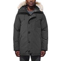 Aşağı Ceket Kış Büyük Kürk Ceket Giyim Moda Fermuar Genç Erkekler Uzun Kollu Rahat Klasik Ince Açık Hood Kalın Sokak Sıcak Pamuk Kalınlaşmış