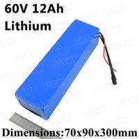 GTK 60V 12Ah lithium ion battery li-ion 60v 10ah 900w 15A BMS For 60v unicycle battery electric skateboard 800w 500w +2A charger