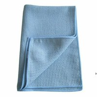 Сублимационные вафельные полотенце 40 * 60см пустой белый автомобиль чайное полотенце теплопередача пустые сублимационные волосы полотенца для волос hwe6763