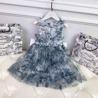 2021SS Baby Mädchen Kleid Mode Babyde Mädchen Designer Kleidung Hohe Qualität Designer Kleidung Kinder Luxe Merk Kid Marke Rock Größe 90-150
