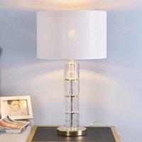 الجدول مصابيح Tuda K9 كريستال لغرفة المعيشة غرفة نوم السرير مصباح الاتحاد الأوروبي التوصيل ليلة الإضاءة الداخلية
