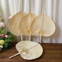 Hand gewebt Stroh Bambus Handlüfter Baby Umweltschutz Moskitoabweisende Fan für Sommerhochzeit Favor OWB7521