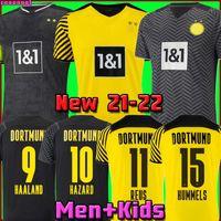Dortmund Soccer Jersey Borussia 21 22 الرابع 4th 2021 2022 Football Shirt Haaland Reus Neongelb Bellingham Sancho Hummels Brandt Men + Kid Kit Mailleot De Foot