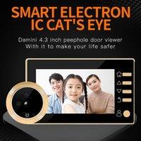 """Tür-Viewer-Video-Peephol-Kamera Bewegungserkennung 4.3 """"Monitor digitaler Ring-Türklingel-Video-Eye-Sicherheits-Sprachaufzeichnungs-Türklagen"""