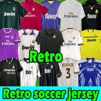 Finals Real Madrid Retro Soccer Jerseys Guti Ramos Seedorf Carlos 11 12 2013 14 15 Ronaldo Zidane Beckham Redondo Jersey 94 95 96 97 98 99 00 01 02 03 04 05 Fotbollskjortor