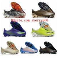 2021 أحذية كرة القدم وصول رجل المرابط X أشباح FG أحذية كرة القدم في الهواء الطلق