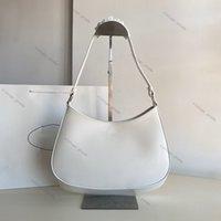 2020 hochwertige echtes leder frauen cleo gebürstete tote nylon leder luxus designer mann frauen umhängetasche hobo crossbody taschen handtaschen