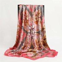 Finger Square Sitze Sarf für Frauen Tücher Blume Print Hijab Ladi Headscarf Weibliches Stirnband für ihre Wrap Bandana