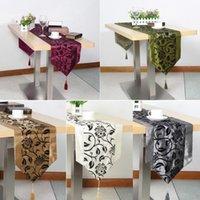 웨딩 장식 제기 꽃 벚꽃 무리 다마스크 테이블 러너 천